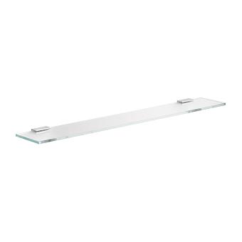 Keuco Edition 400 Стеклянная полочка из кристаллина, ESG 700х8х125мм, подвесная, цвет: хром