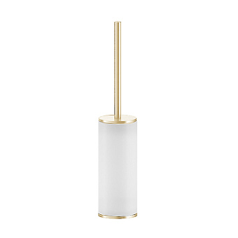 Gessi Inciso Ершик для туалета, напольный. цвет: золото/белый