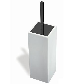 StilHaus Urania Ершик керамический, настенный, цвет: чёрный матовый/белая керамика
