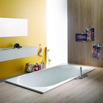 BETTE Comodo Ванна встраиваемая 170х75х45 с шумоизоляцией, область ног ванны справа, перелив сзади (для удлиненного слив-перелива), цвет: белый