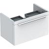 Geberit myDay Тумба с раковиной, 68х41х43см, с 1 отв., подвесная, с одним выдвижным ящиком, цвет: белый