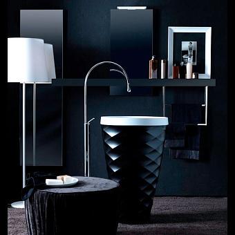 Karol Free Design Раковина 60х45х91 см, без отв., отдельностоящая, цвет: Nero