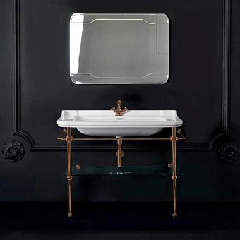 Kerasan Waldorf Металлическая структура 120х42см, с раковиной на1 отв., со стеклянной полочкой, цвет: бронза
