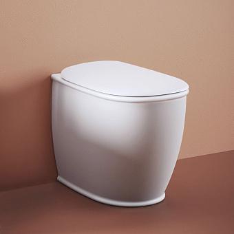Artceram Atelier Унитаз напольный, 52х37хh42см, безободковый, слив универсальный, с крепежом, цвет: белый