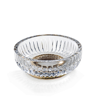 3SC Elegance Мыльница настольная, цвет: прозрачный хрусталь/золото 24к. opaco