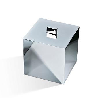 Decor Walther Cube DW 3560 Баночка универсальная 13x13x14.5см, с крышкой, цвет: хром