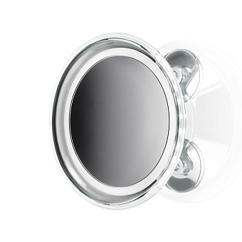 Decor Walther BS 18 Touch L Косметическое зеркало 20см, подвесное, с присосом, подсветка LED, цвет: хром