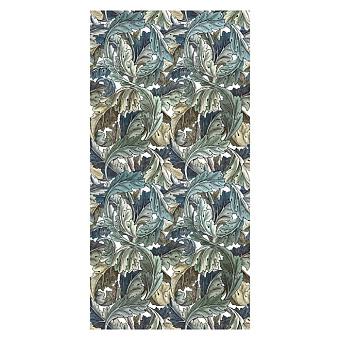 Devon&Devon Decor Slabs Керамогранит 120x240см, универсальная, глазурованнаный, декор: acanthus painted blue