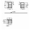 Geberit iCon Подвесной шкафчик с многофункциональным ящиком 37х40х24.5см, цвет: платиновый