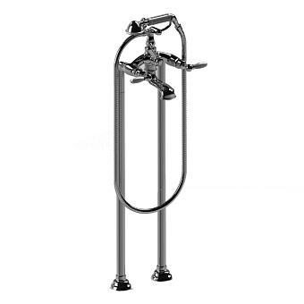 Stella Italica Leve Напольный смеситель для ванны 3274CL306 с ручным душем, цвет: хром