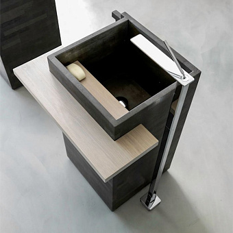 Karol Free Design Раковина 60х45х91 см, без отв., отдельностоящая, цвет: флорентийский серый