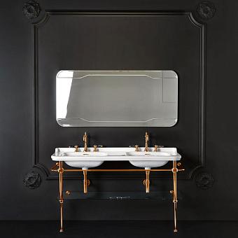 KERASAN Waldorf Консоль с раковиной 150х55см, на 1 отв, цвета консоли: oro (золото).