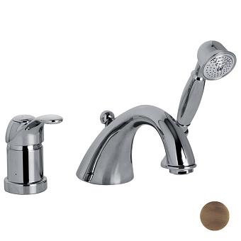 Carlo Frattini Lamp Набортный смеситель для ванны с душем, цвет: бронза