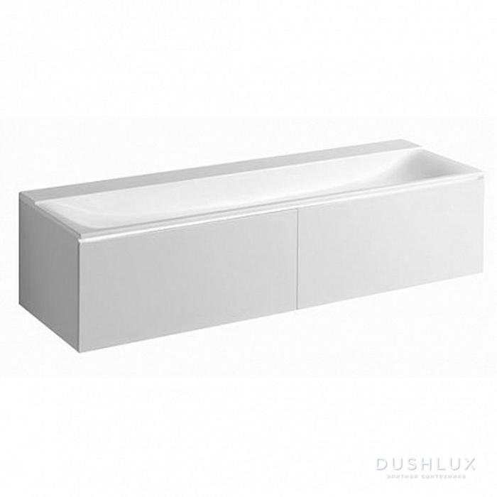 Geberit Xeno² Тумба с раковиной 159.5х35х47.3см, без отв., подвесная, с двумя выдвижными ящиками, цвет: белый /Матовое покрытие