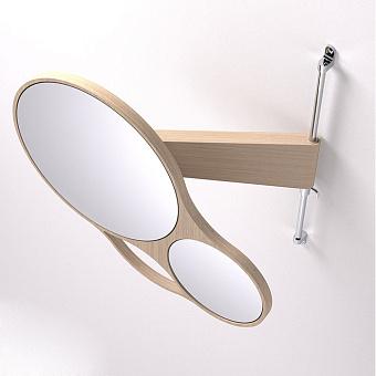 Agape Spin Двойное зеркало 47x44 см, цвет: натуральный дуб