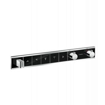 Hansgrohe RainSelect Смеситель для ванны, термостатический, 5 источника, СМ, цвет: черный/белый