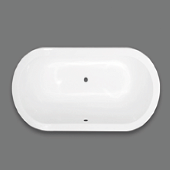 Devon&Devon Bayswater Ванна встроенная чугунная овальная 170x80xh46 cм, цвет: белый