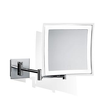 Decor Walther BS 84 Touch Косметическое зеркало 23x21см, подвесное, увел. 5x, сенсорный вкл., подсветка LEDй, цвет: хром