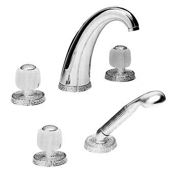 Cristal et Bronze Millesime Смеситель для ванны, цвет хром/сатинированное стекло