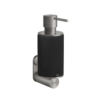 Gessi 316 Дозатор для жидкого мыла настенный, цвет: шлифованная сталь/черный
