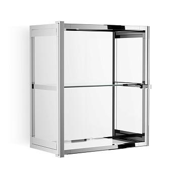 Decor Walther Glas S 2 Шкафчик подвесной 35x19x40см, стекло прозрачное, цвет: хром