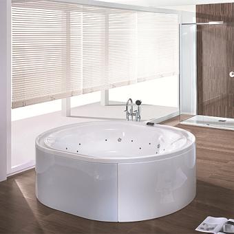Hoesch Ergo+ Ванна отдельностоящая 200x160x70 см, с гидро и аэромассажем Ergo+, цвет: белый