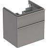 Geberit iCon Тумба с раковиной 59.5х62х47.7см, с 1 отв., подвесная, с двумя выдвижными ящиками, цвет: цвет: платиновый