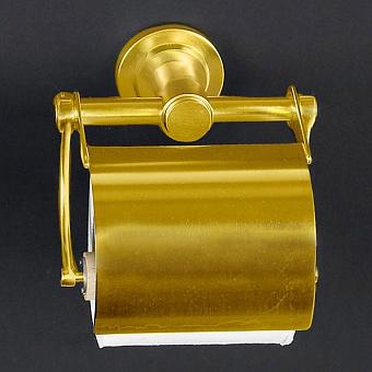 Cristal et Bronze Alliance Держатель туалетной бумаги с крышкой, матовое золото