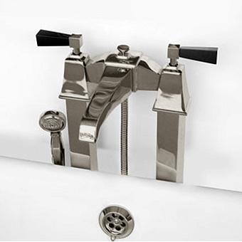 Devon&Devon Vip Time Смеситель для ванны, цвет: никель сатинированный/черный хрусталь