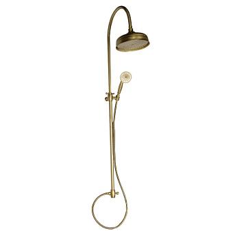 Nicolazzi Doccia Душевая стойка с верхним душем Ø 20см, переключателем и ручным душем, цвет: бронза