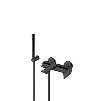 Cristina Profilo Смеситель для ванны с ручным душем, 3 отв., цвет: черный матовый