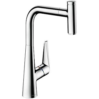 Hansgrohe Talis Select S, Смеситель для кухни, с выдвижным душем, Цвет: хром