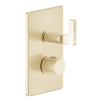 Gessi Inciso Смеситель для душа с переключателем на 1 выход, термостатический, цвет: золото