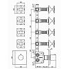 Zucchetti Bellagio Термостатический встроенный смеситель с 4 запорными клапанами, цвет: хром