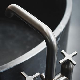 Agape Memory Смеситель для ванны, напольный, цвет: сталь