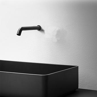Falper Acquifero Излив настенный, 15 см, цвет: черный матовый