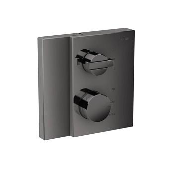Axor Edge Смеситель для душа, встраиваемый, термостат, на 2 источника, с запорным вентилем, цвет: черный