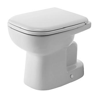 Duravit D-Code Унитаз напольный 53х35см, для независимого подключения воды,  включая крепление, слив в стену, цвет белый