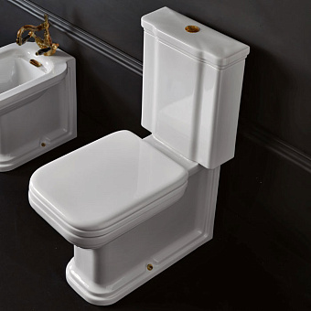 Kerasan Waldorf Унитаз-моноблок 68х40см, цвет белый, фурнитура бронза