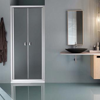 SAMO Europa Душевая дверь, профиль хром, прозрачное стекло, 78-84х200