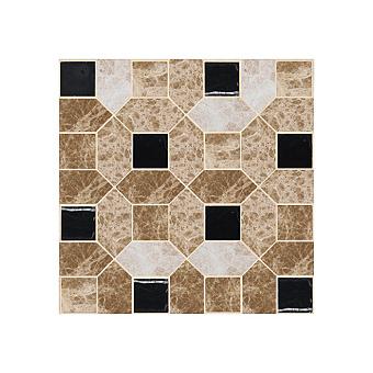 Devon&Devon Elite Плитка из натурального камня 60x60см, универсальная, мрамор, elite 5, цвет: emperador light/black marquinha