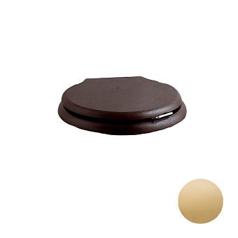 Devon&Devon Etoile/New Etoile Сиденье для унитаза из массива дуба, цвет: темный/петли светлое золото