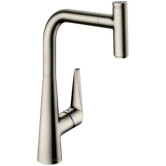 Hansgrohe Talis Select S, Смеситель для кухни, с выдвижным душем, Цвет: сталь