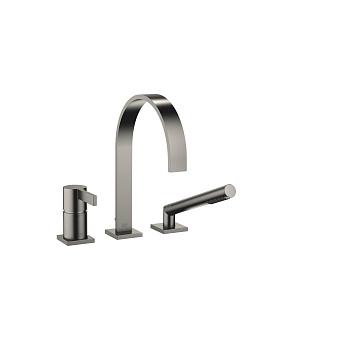 Dornbracht MEM Смеситель для ванны, на 3 отв., на борт, цвет: Dark Platinum matt