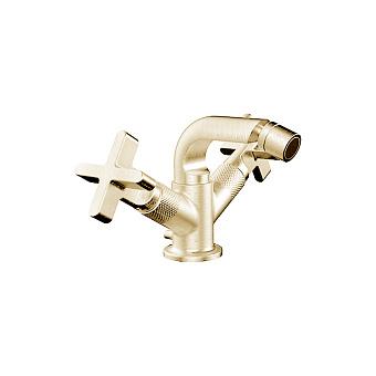 Gessi Inciso Смеситель для биде, на 1 отв., с донным клапаном, цвет: золото