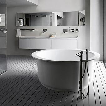 Agape In-Out Ванна отдельностоящая d152.5x64 см, круглая, цвет: белый/светло-серый