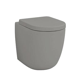 Artceram FILE 2.0 Унитаз безободковый, напольный приставной, слив универсальный 36х52 см, с креплениями, цвет grigio oliva