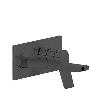 Gessi Rilievo Встраиваемый смеситель для раковины с изливом 215мм, цвет: nero XL