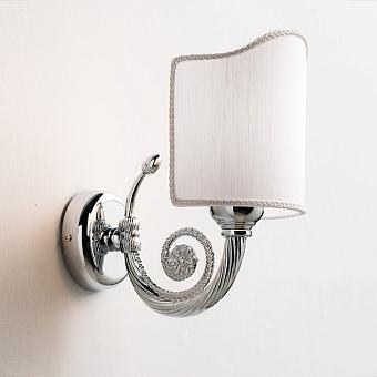 EBAN Светильник настенный Stella, цвет хром, с абажуром тканевым цвет кремовый