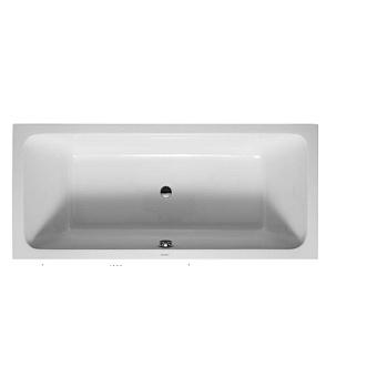 Duravit D-Code Ванна акриловая 1800х800 мм, встраиваемая, с 2 наклонами для спины, выпуск центральный, цвет белый